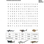 Worksheet-Shark-Word-Search